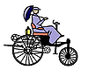 Vector clipart: old-time bicycle