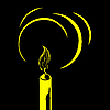Vector clipart: silhouette of the candle