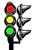 Vector clipart: silhouette of the traffic light