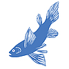 Vector clipart: silhouette of fish