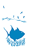 Vector clipart: silhouette of sea fish