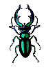 Vector clipart: silhouette of the bug