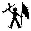 Vector clipart: silhouette of the soldier