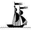 Vector clipart: the old-time frigate