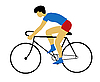 Vector clipart: silhouette bicyclist