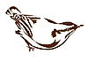 Vector clipart: silhouette nuthatch