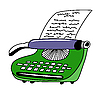 Rysunek pisarza typu drukowanego | Stock Vector Graphics