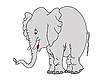 Vector clipart: drawing elephant
