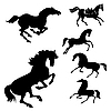 Vector clipart: set of the horses