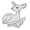 Векторный клипарт: маленький олень