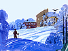 Vector clipart: simple drawing of winter landscape
