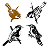 Vector clipart: set of the birds