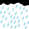 Vector clipart: rain of cloud