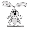Vector clipart: drawing hare
