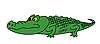 Vector clipart: drawing green crocodile