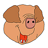Vector clipart: drawing pig