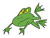Векторный клипарт: зеленая лягушка