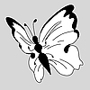 Vector clipart: white butterfly