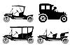 Vector clipart: retro car