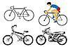 Vector clipart: set bicycle