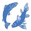 Векторный клипарт: множество рыб