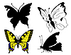 Vector clipart: set butterfly