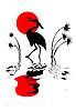 Vector clipart: silhouette crane