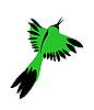 Vector clipart: green bird