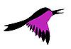 Векторный клипарт: сирень птицы