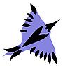 Vector clipart: blue bird