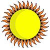 Векторный клипарт: желтое солнце