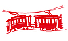 Vector clipart: red tram