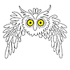 Vector clipart: silhouette owl