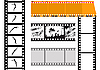 Vector clipart: set of camera films