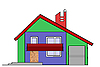 Vector clipart: house drawing