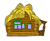 Vector clipart: rural house drawing
