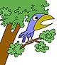 Векторный клипарт: птица рисунок