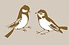 Векторный клипарт: силуэты птиц