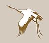 Векторный клипарт: Кран силуэт на фоне коричневый,