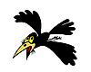 Векторный клипарт: летающей вороны
