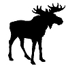 Silhouette of moose | Stock Vector Graphics
