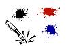 Vector clipart: varicoloured inkblots