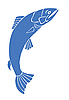 Vector clipart: silhouette salmon