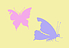 Vector clipart: silhouette butterfly