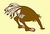 Векторный клипарт: силуэт страуса