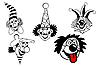Векторный клипарт: Набор клоун