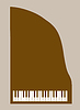 Vector clipart: piano silhouette