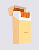 Векторный клипарт: Пачка сигарет