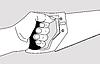 Векторный клипарт: увидел в руке