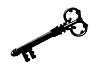 Vector clipart: key silhouette